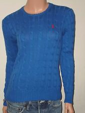 POLO RALPH LAUREN WOMEN'S SWEATERS CABLE KNIT V-NECK-CREW-MOCK ZIP ASSORT COLORS