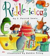 Riddle-Icious by J. Patrick Lewis c1996, VGC Hardcover, We Combine Shipping