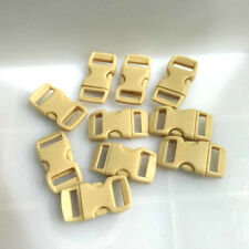 "12pcs 3/8"" Curved Side Release Plastic Buckle  for Paracord Bracelet Khaki"