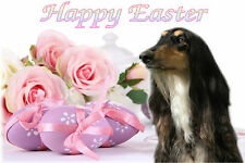 Afghan Hound Dog Easter Design A6 Textured Card EAFGHAN-2 by paws2print