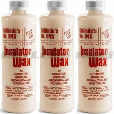 3 Collinite 845 Liquid Insulator Wax Polish 16oz #845 Show Car Polish Marine