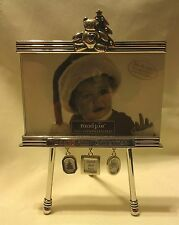 Baby Teddy BearFirst Christmas Home Office 3.5 x 5 Silver Picture Frame NEW #DF*