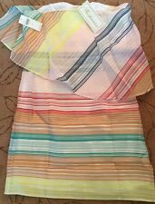NWT SZ 12 $395 SHOSHANNA SUGARED STRIPES DRESS FABULOUS MADE IN ITALY
