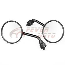 Motorcycle Black  Round  Rearview Side Mirrors For 8/10mm Yamaha Aprilia KTM FM