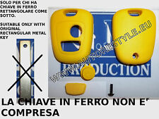 COVER CASE SHELL YELLOW FOR KEY REMOTE CONTROL 2 BUTTON PEUGEOT 107 207 307