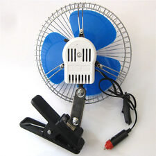 New Portable 12Volt 6Inch Car Cooling Fan with Clip Switch Outdoor Camping ATAU