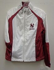 New York Yankees Ladies Medium Poly Dewspo and Diamond Ribstop Track Jacket
