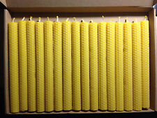 40 PCS 100% BEESWAX  HAND ROLLED CANDLES