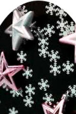 20 water slide nail decals Christmas Black silver pink Full nail  Trending