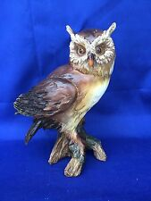 Antique Primitive Barn Screech Halloween Decor OWL Great Horned Vintage Statue