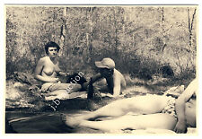 Nudism TOPLESS PICNIC / PICKNICK OBEN OHNE FKK * Vintage 50s Nude Amateur Photo