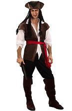 Costume Pirate des Caraïbes Homme robe fantaisie Homme Jack Sparrow inc hat dreadlocks M