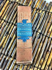 Vintage Box of Eagle Turquoise Drawing Pencils and Venus antique set lot