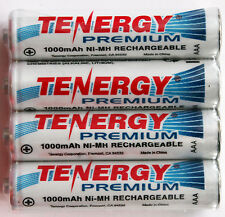 4PC Tenergy Premium AAA Ni-Mh 1000mAh Rechargeable Battery NIMH-AAA-1000-PREMIUM