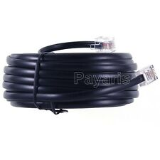 New 50 Ft Modular Phone Line Cord Telephone Extension Cable RJ11 4 Wire Black
