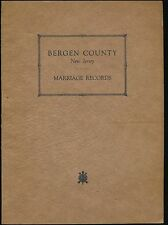 Bergen County New Jersey Marriage Records 1929 (Genealogy, History, NJ)