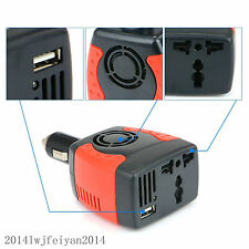 Power Inverter DC 12V to 220V/110V AC Car Cigarette Lighter Charger Converter