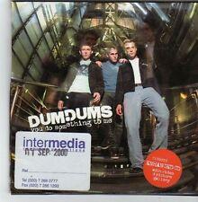 (FI712) Dum Dums, You Do Something To Me - 2000 DJ CD
