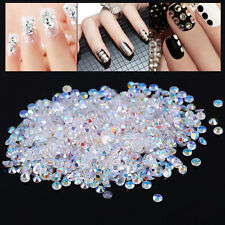 Crystal Drill 1000pc Clear Flat Rhinestone Tips For 3D Nail Art Phone Decoration