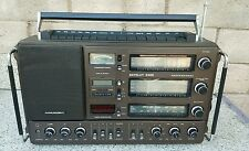 Vintage Grundig Satellit 3400 Prefessional World Radio FM AM SW MW Works Boombox