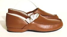 L.B. Evans Chicopee Tan Leather Slippers Shoes Size 8S NIB
