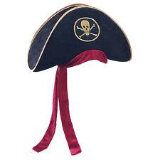 Ladies Deluxe Velvet Sexy Buccaneer Pirate Captain Fancy Dress Hat