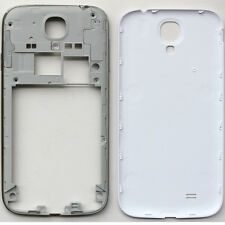New White For Samsung Galaxy S4 i9500 Mid-Frame+Battery Cover Replacement Parts