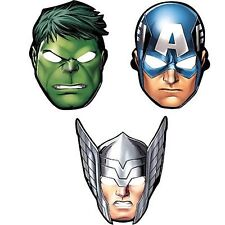 The Avengers/Marvel Avengers Paper Party Masks with Elastic to secure - 8 pack