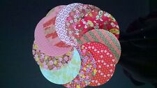 Traditional Japanese Chiyogami Washi Yuzen Paper ~20 Circular Sheets ~12cm wide