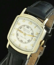 RARE VINTAGE GRUEN DOCTORS WATCH - MENS 405ss - 10K GOLD F GUILDITE - MINT DIAL