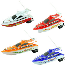 Plastic Remote Control Boats Speed Electric Toys Model Ship Sailing Children