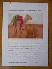 "BABY CAMEL KNITTING PATTERN FOR 6.5"" (16 CMS) NATIVITY BABY CAMELS"