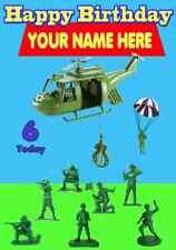 Soldados de juguete historia feliz cumpleaños A5 Tarjeta de felicitación personalizada PID729 6 hoy