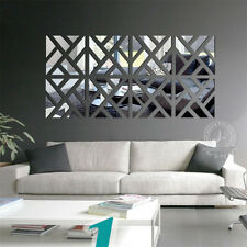 Mirror Decal Wall Sticker Mural Art Decor Home Living Room Hall NEW
