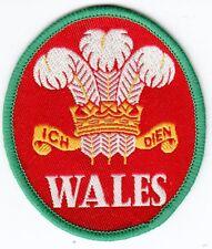 Aufnäher + Fußball + Wales + Wappen #3 + Nur 1x + Sammler + 7,5x6,5 cm +