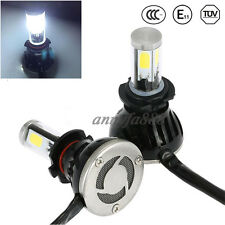 2pcs 9007 HB5 COB LED Headlight Kit Hi/Low Beam 6000K White Bulbs 80W 8000LM