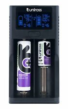 UNiROSS FAST SMART CHARGER DUO LCD Li-ION for 18650,18350,18500,26650,RCR 123A