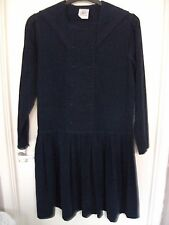 "Vintage Laura Ashley ""sailor"" dress, in navy needlecord. Size 12 (loose fit)"