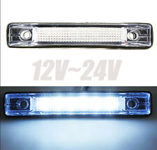 1x 6 LED Lorry Pickup Trailer Clearance Side Marker Warning Light Lamp White 12V