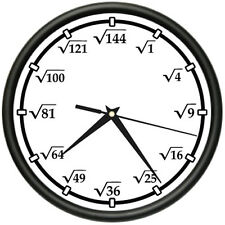 SQUARE ROOT Wall Clock math teacher calculator new gift