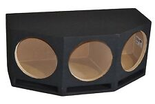 "Triple 12"" Ported Subwoofer Box Vented Sub Enclosure 12 Inch, 1"" Baffle -Angled"