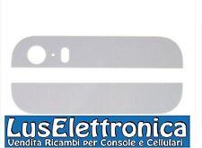 KIT COPPIA VETRO VETRINO 2 VETRINI POSTERIORE BACK COVER BIANCO IPHONE 5s