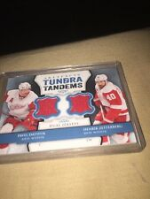 Pavel Datsyuk/ Henrik Zetterberg Red Wings Dual Jersey Card!!