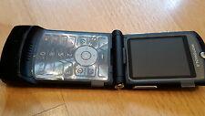Motorola RAZR v3 color negro/foliert/sin bloqueo SIM/plegable móvil * como nuevo *