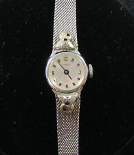Vintage Women's Wind Up Timex Watch Mesh Stainless Steel Band FOR PARTS