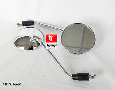 Motorcycle/Bike CLASSIC Scooter Pair of Chrome Mirrors 10mm Thread Silver 166M