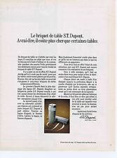 PUBLICITE ADVERTISING 064 1971 S.T.DUPONT briquet de table