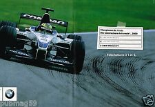 Publicité advertising 2000 (2 pages) BMW Williams F1 Championnat du monde