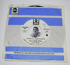 LOUIS PRIMA~Almost Persuaded / Waitin' In Your Welfare Line~ABC Promo 7""