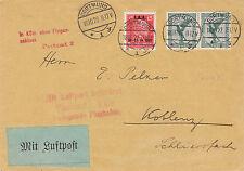 DR MiNr. 408 MiF, Luftpost Dortmund- Koblenz, 18.10.1927